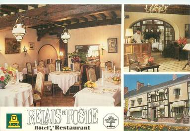 """CPSM FRANCE 18 """"Argent sur Sauldre, restaurant Relais de la Poste"""""""