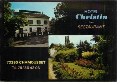 "CPSM FRANCE 73 ""Chamousset, Hotel Christin"""