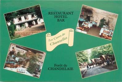 """CPSM FRANCE 49 """"Le Guedeniau, Restaurant Les Caves de Chanzelles"""""""
