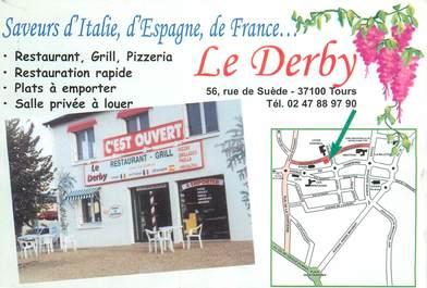 """CPSM FRANCE 37 """"Tours, restaurant le Derby"""""""