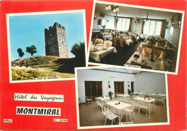 "CPSM FRANCE 26 ""Montmiral, Hotel des Voyageurs"""