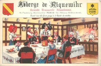 """CPSM FRANCE 75009 """"Paris, L'Auberge de Riquewihr"""""""