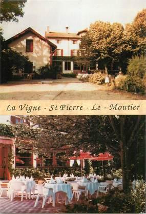 """CPSM FRANCE 58 """"Saint Pierre le Moutier, restaurant la Vigne"""""""