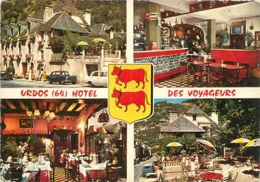"""CPSM FRANCE 64 """"Urdos, Hotel Restaurant des Voyageurs"""""""