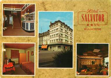 """CPSM FRANCE 68 """"Mulhouse, Hotel Salvator"""""""