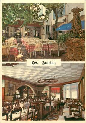 "CPSM FRANCE 30 ""Le Grau du Roi, Hotel restaurant les Acacias"""