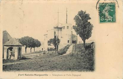 """CPA FRANCE 06 """"Cannes, Ile Sainte Marguerite, le Fort et le sémaphore"""""""