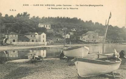 """CPA FRANCE 06 """"Cannes, Ile Sainte Marguerite, restaurant de la Réserve"""""""