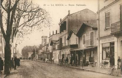"""CPA FRANCE 06 """"Cannes la Bocca, la route Nationale"""""""