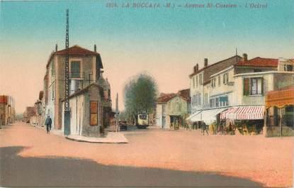"""CPA FRANCE 06 """"Cannes la Bocca, avenue Saint Cassien"""" / TRAMWAY"""