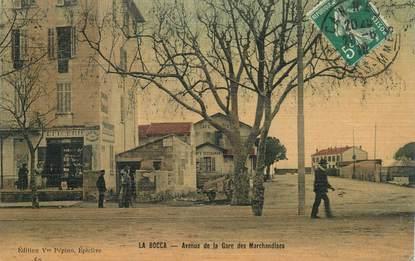 """CPA FRANCE 06 """"Cannes la Bocca, avenue de la gare des Marchandises"""" / CARTE TOILÉE"""