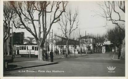 """CPSM FRANCE 06 """"Cannes la Bocca, la place des Abattoirs"""" / TRAMWAY"""