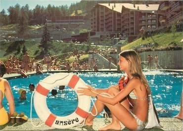 """CPSM SUISSE """"Anzère, la piscine"""""""
