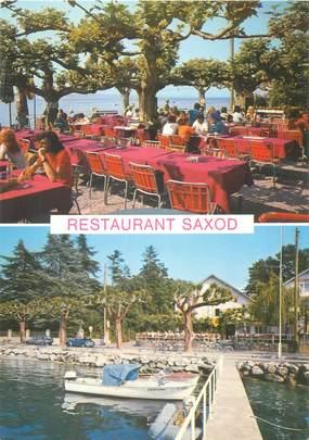 """CPSM SUISSE """"Corsier, restaurant Saxod"""""""