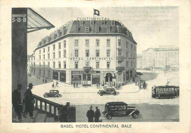 """CPSM SUISSE """"Basel, Hotel continental"""""""