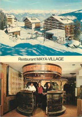 "CPSM SUISSE ""Les Collons, Restaurant Maya Village"""