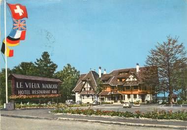 """CPSM SUISSE """"Meyriez Morat, Hotel le vieux Manoir"""""""