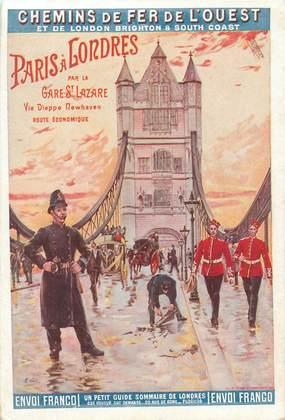 """CPA PUBLICITE CHEMIN DE FER DE L'ETAT """"Paris Londres"""""""