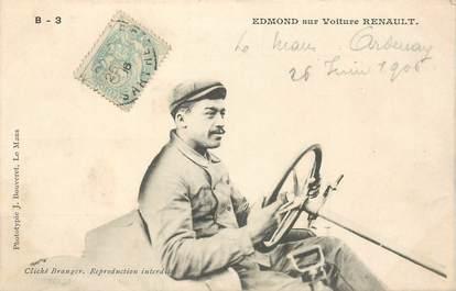 """CPA AUTOMOBILE """"Pilote EDMOND sur Voiture Renault"""""""