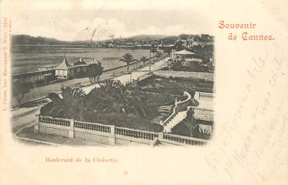 """CPA FRANCE 06 """"Cannes, bld de la Croisette"""" / CARTE PRECURSEUR"""