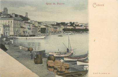 "CPA FRANCE 06 ""Cannes, le quai Saint Pierre"" / CARTE PRECURSEUR"
