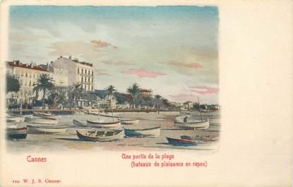 "CPA FRANCE 06 ""Cannes, la plage"" / CARTE PRECURSEUR"