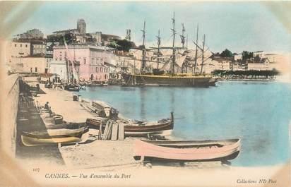 """CPA FRANCE 06 """"Cannes, le port"""" / CARTE PRECURSEUR"""