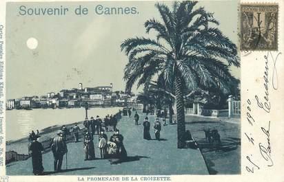 """CPA FRANCE 06 """"Cannes, la Croisette"""" / CARTE PRECURSEUR"""