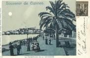 """06 Alpe Maritime CPA FRANCE 06 """"Cannes, la Croisette"""" / CARTE PRECURSEUR"""