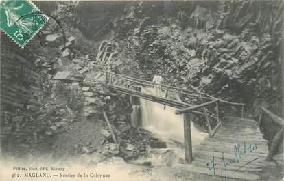 """CPA FRANCE 74 """"Magland, sentier de la Colonnaz"""""""