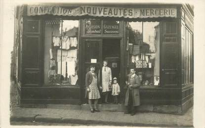 """CARTE PHOTO FRANCE 93 """"Neuilly sur Marne, Commerce Confections Mercerie"""""""