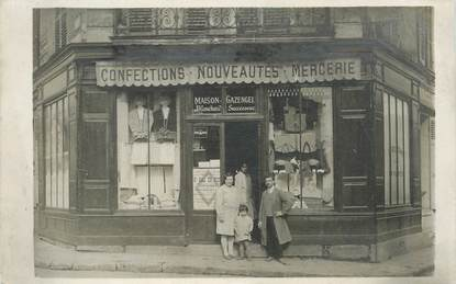 "CARTE PHOTO FRANCE 93 ""Neuilly sur Marne, Commerce Confections Mercerie"""