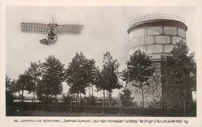 """CPA AVIATION """"Santos Dumont sur monoplan Le Baby"""""""