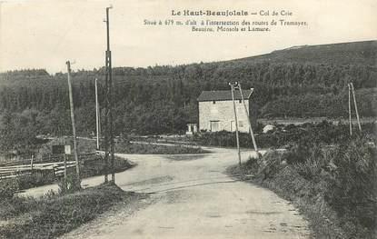 """CPA FRANCE 69 """"Le Haut Beaujolais, Col de Crie"""""""