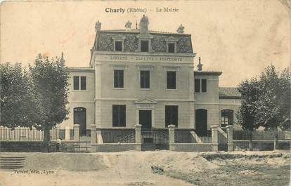 """CPA FRANCE 69 """"Charly, la mairie"""""""