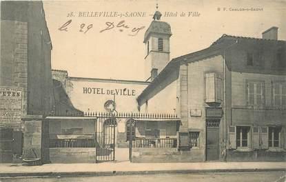 Cpa france 69 belleville sur saone hotel de ville 69 - Horaire piscine belleville sur saone ...