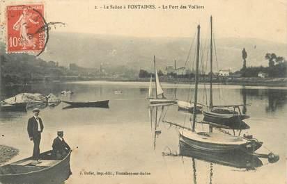 """CPA FRANCE 69 """"La Saone à Fontaines, le port des voiliers"""""""