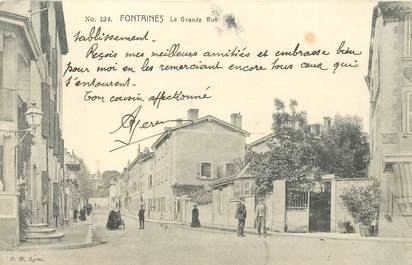 """CPA FRANCE 69 """"Fontaines sur Saone"""""""