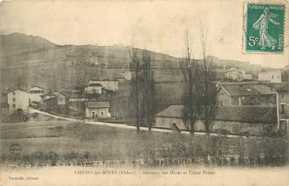 """CPA FRANCE 69 """"Chessy les Mines, Hameau des Mines"""""""