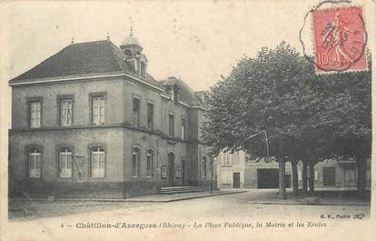 "CPA FRANCE 69 ""Châtillon d'Azergues, la place"""