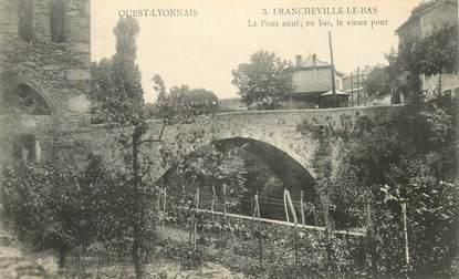 """CPA FRANCE 69 """"Francheville le Bas, le Pont neuf"""""""