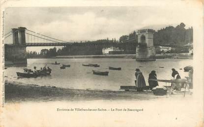 "CPA FRANCE 69 ""Env. de Villefranche sur Saone, le pont de Beauregard"""
