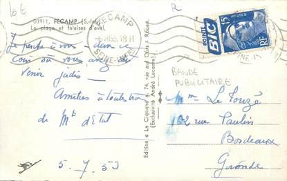MARCOPHILIE FRANCE / BANDE PUBLICITAIRE sur CPSM 76 Fécamp