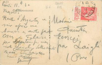 MARCOPHILIE FRANCE / BANDE PUBLICITAIRE sur CPA 14 Falaise