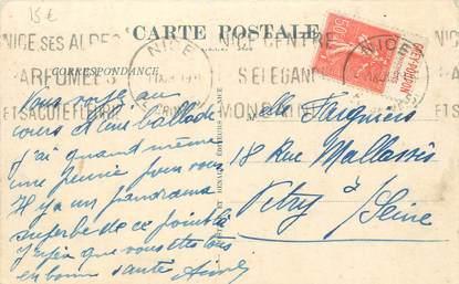 MARCOPHILIE FRANCE / BANDE PUBLICITAIRE sur CPA 06 La Turbie