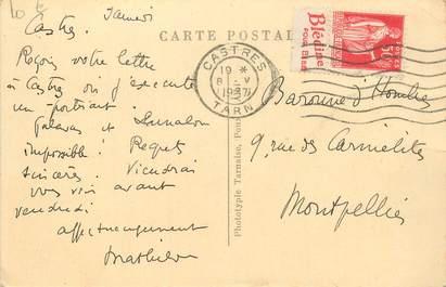 MARCOPHILIE FRANCE / BANDE PUBLICITAIRE sur CPA 81 Vallée du Gijou