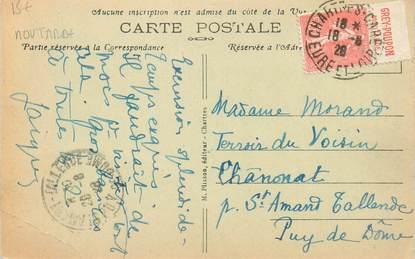 MARCOPHILIE FRANCE / BANDE PUBLICITAIRE MOUTARDE sur CPA 28 Chartres