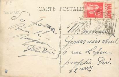MARCOPHILIE FRANCE / BANDE PUBLICITAIRE MOUTARDE sur CPA 77 La Ferté sous Jouarre