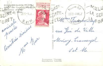 MARCOPHILIE FRANCE / BANDE PUBLICITAIRE sur CPSM 77 Dammarie les Lys