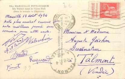 MARCOPHILIE FRANCE / BANDE PUBLICITAIRE sur CPSM 13 Marseille
